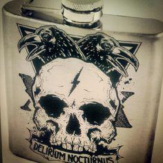 Flask sample.. coming soon. #skull #flask
