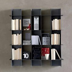 Lovely U0027Intrecci IIIu0027 Wall Mounted Bookcase By Santarossa (From My Italian Living)