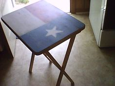Texas TV Tray...  Umm on to something here..  State of Oklahoma with heart in it..  maybe paint tray with shape to keep wood look add heart..