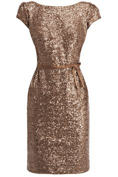 Sequin Dress with Bow Belt