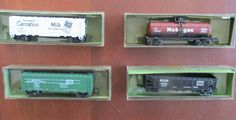 Lot of 4 Aurora/Trix N Scale Freight Cars IOB