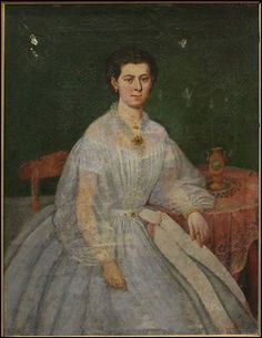 Unknown, Lady Seated in Blue, Lot 148-6350 #oil Continental School 19th Century #painting #portrait #landscape #estate #fineart #auction #singleowner #art