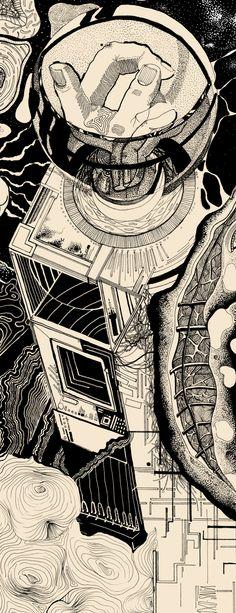 E N T R O P Y H A N D S  - Imarginal x Sang  #dotwork #nankin #art #surrealism #posca #blackwork #ttt #imarginal #sang #aeo #illustration #duo #stadler #linework #lines #black #space #scifi #fiction #sun #spaceship  #hands #minerals #geometry #biology #future