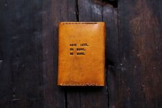 Mens Custom Leather Wallet Slim Leather Wallet by RedLeafLeather