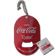 Pocket bottle opener cum key chain is made for easy travel and access when you need a handy dandy opener.