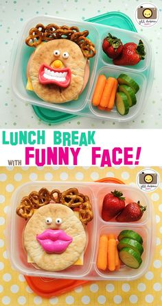 These'll make 'em smile! Packed in #EasyLunchboxes containers