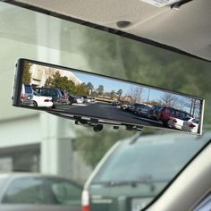 A rearview mirror with no blind spots, Brookstone #gadget
