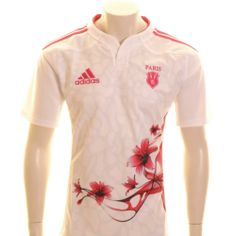 Adidas Paris Stade Francais Home Rugby Shirt is available at Shop Rugby now. Adidas Paris Stade Francais Home Rugby Shirts online. Rugby Gear, Rugby Kit, French Rugby, Rugby Shirts, Team S, Crests, Balls, France, Adidas
