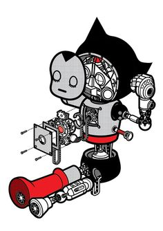 "myexquisitecollection: "" Some awesome Astro Boy illustration by Stephen Chan. Boy Illustration, Character Illustration, Graphic Design Illustration, Comic Manga, Anime Comics, Graphic Design Tattoos, Astro Boy, Alphabet Print, Art Fair"