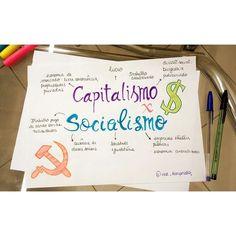 Mapas mentais Socialismo Capitalismo Sociologia Study History, World History, Mental Map, Study Hard, Studyblr, Study Notes, Study Motivation, Student Life, School Organization