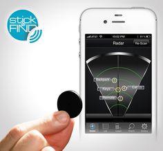 I Want IT...I Need IT...I Love IT!!!! StickNFind Bluetooth Stickers