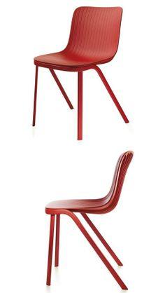 DRAGONFLY #chair by Segis | #design Odoardo Fioravanti #red