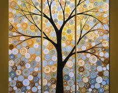 Pintura paisaje de árboles contemporáneo moderno por AmyGiacomelli