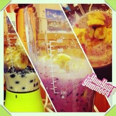 #frozenbanana #blueberries #soy-milk #smoothie perfect dinner #Padgram