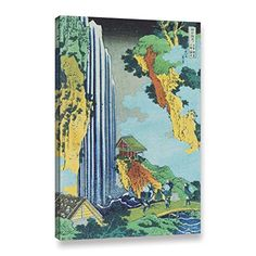 ArtWall Katsushika Hokusais Ono Waterfall on The Kisokaido Gallery Wrapped Canvas Artwork 24 x 36 *** Check out the image by visiting the link.(It is Amazon affiliate link) #10likes