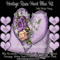Heritage Roses Heart Mini Kit : The Designer Twins ...where creativity encounters quality and value