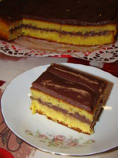 Cristina's world: Prajitura pufoasa cu budinca de ciocolata si rom
