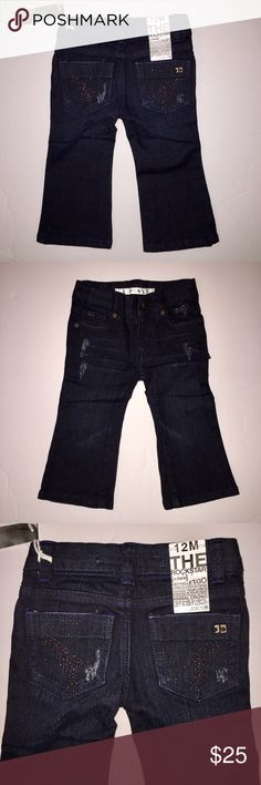 *HP* NWT Rockstar super cute Joe's Jeans 12 months New with tags!! Joe's Jeans size 12 months. Super cute design the rockstar with a beautiful design pockets in the back & distressed all over. See pics! You're a little princess will be a rockstar and her new Joe's premium denim jeans Joe's Jeans Bottoms Jeans