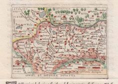 Map of South West Poland 1599
