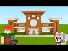 """Minecraft Tutorial: How To Make A Pet Store City Tutorial"""" Minecraft Modern City, Villa Minecraft, Minecraft Shops, Minecraft City Buildings, Minecraft House Plans, Minecraft Structures, Minecraft Mansion, Easy Minecraft Houses, Minecraft Room"""