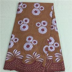 African Embroidery Lace Fabric LKLACE4262-4  https://www.lacekingdom.com/      #embroiderylace