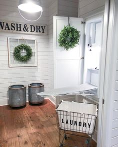 One of my favorite things about our laundry room is the ironing board cupboard! I love that the ironing board is hidden but readily… Hidden Laundry, Laundry Room Inspiration, Laundry Room Organization, Laundry Rooms, Iron Board, Vash, Home Additions, Mudroom, Cupboard