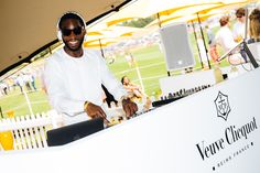Veuve Clicquot Gold Cup Picnic.  Veuve Clicquot Gold Cup Picnic.  Tinie Tempah DJing. #champagne #events #photography #branding #marketing Photography Branding, Event Photography, Reims France, Tinie Tempah, Veuve Clicquot, Gold Cup, Polo Club, Corporate Events, 20 Years