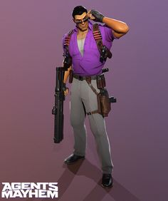 Johny Gat Agents of Mayhem, Pedro Yapor Agents Of Mayhem Characters, Fictional Characters, David Payne, Saints Row, Character Illustration, Game Art, Board Games, The Row, Video Games