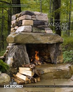 stone fireplace... or maybe just a fireplace for down the hill!