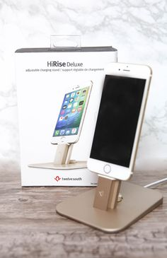 Twelve South - HiRise Deluxe Charging Stand - Gold | Apartment | Peppermayo