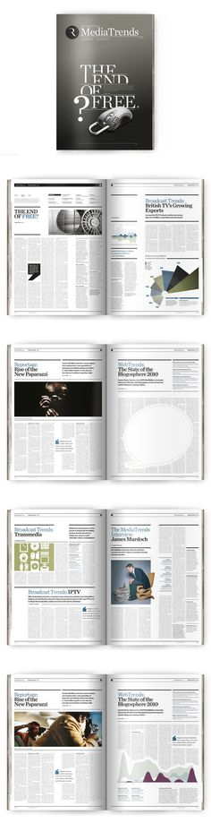 magazine design: MediaTrends by The Design Surgery , via Behance