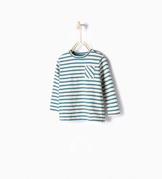 Image 1 of Striped T-shirt with pocket from Zara