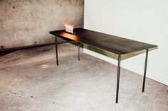 dining table r30˚ carbon steel  @mejidesign