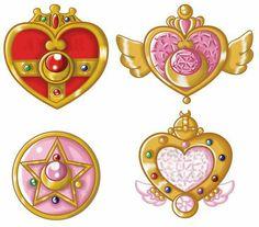 Los broches d Serena-Sailor Moon ♡