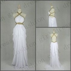 Beach Floor-length white Chiffon maxi dress prom dresses long prom dress elegant dress long evening gown backless elegant dress for 2014