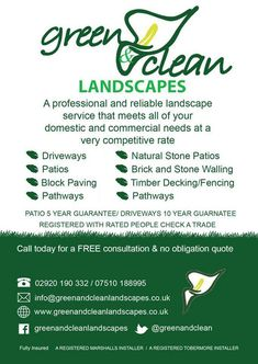 Garden Landscape services, Cardiff.  Decking, Patios, Paving, Fencing, Ground works, garden design.  Businesses that www.getyourbusinessnoticedonline.com work with.