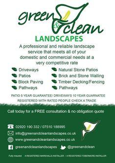 Garden Landscape services, Cardiff.  Decking, Patios, Paving, Fencing, Ground works, garden design.  Businesses that www.getyourbusinessnoticedonline.com work with.