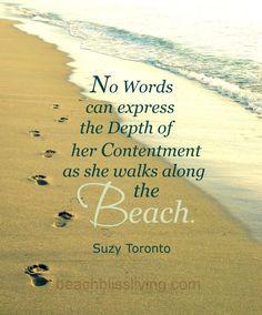 Walking barefoot on the beach... http://beachblissliving.com/health-benefits-of-walking-barefoot-on-beach/