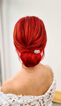 A gorgeous and simple low bun #lowbun #hairupideas #essex #ukhairstylist Date Hairstyles, Wedding Hairstyles, Bridal Hair Up, October Wedding, About Hair, Bridesmaid Hair, Wedding Trends, Cut And Color, Mother Of The Bride
