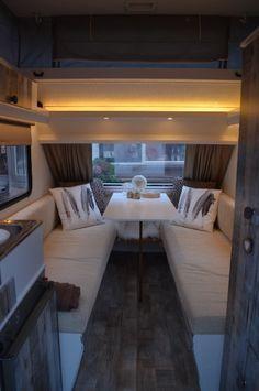 Caravan- more seating than utilities More