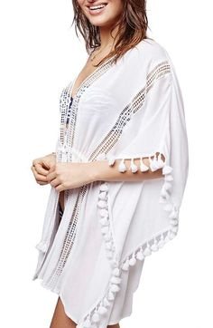 Topshop Lace Detail Caftan Cover-Up available at #Nordstrom