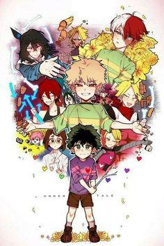 A cross between Undertale and Boku No Hero Academia/My Hero Academia