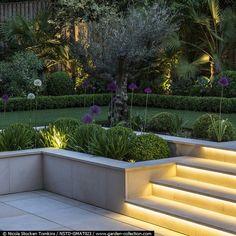 46 antique DIY ideas to make garden stairs and steps - Hinterhof Garten diy - Best Garden Ideas Modern Landscape Design, Modern Landscaping, Backyard Landscaping, Landscape Edging, Backyard Designs, Backyard Patio, Terraced Landscaping, Contemporary Landscape, Landscaping Ideas