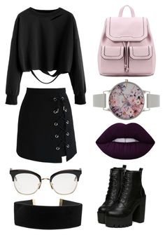 """""""Untitled #245"""" by bandsdestroyamylife on Polyvore featuring Olivia Burton, Chicwish, Lime Crime and Thom Browne"""