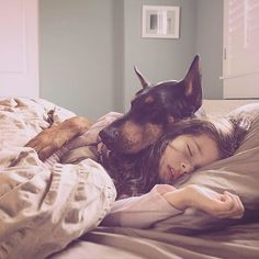 """When it comes to people and their pets, there's friendship, and then there's @cutieandthebeast. Tara Prucha captures the gentle, loving moments between """"Cutie"""" — Tara's 5-year-old daughter, Siena — and """"Beast"""" — the family's 3-year-old Doberman, Buddha. The two are inseparable. """"When Siena comes home, Buddha is her patient shadow,"""" says Tara. """"If she needs someone to approve of her latest creation, or if mom is being the most unfair person in the world, he is there for her."""" Tara steals…"""
