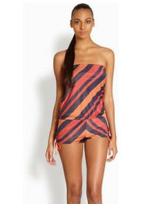 555a7aaf6ab88 Marc by Marc Jacobs Cory Stripe Bandeau Cover Up Romper – Beach Chain Girl