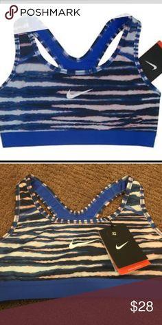 Nike Pro Tiger Sports Bra NWT Nike Pro Tiger Sports Bra NWT in beautiful blue, peach and black pattern! Nike Intimates & Sleepwear Bras
