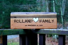 Custom Rustic Wood Sign - Large-Long - Personalized Gift - Hand Engraved - Unique wedding gift by rusticcraftdesign on Etsy, $30.00