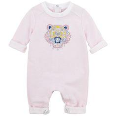 Pale pink fleece jumpsuit