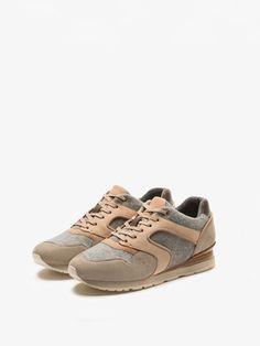 Sneaker in combistof #massimoduti #fall2016